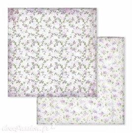 Papier scrapbooking réversible lilas 30x30