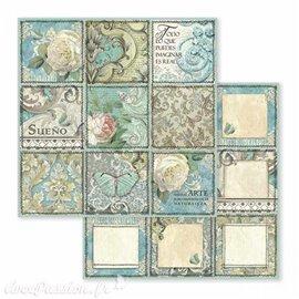 Papier scrapbooking réversible azulejo sueno 30x30