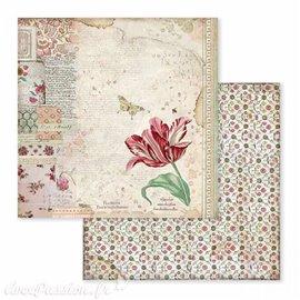 Papier scrapbooking réversible spring botanic 30x30