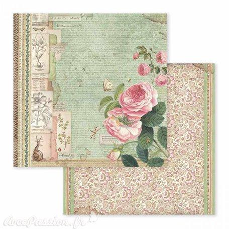 Papier scrapbooking réversible botanic 30x30