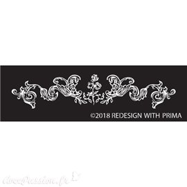 Pochoir en soie silk screen redesign Prima adelaide scrollwork