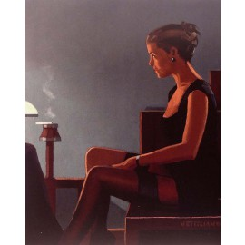 Carte postale Vettriano queen of diamonds II