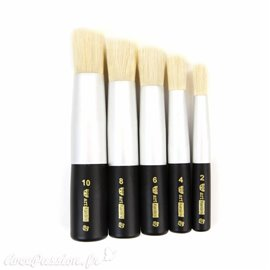Pinceau pochoir Prima Marketing Art Basics Dabbing Brush Set de 5