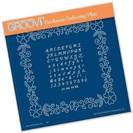 Groovi gabarit traçage parchemin alphabet fleuri