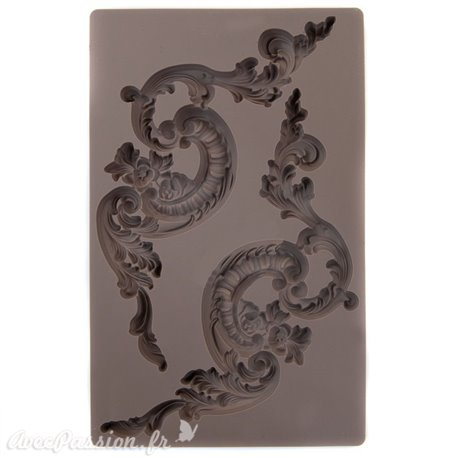 Moule Prima ReDesign en silicone flexible Italian Villa Scrolls
