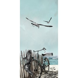 Carte d'art Valie Le Boeuf Fort Boyard 14x28 cm