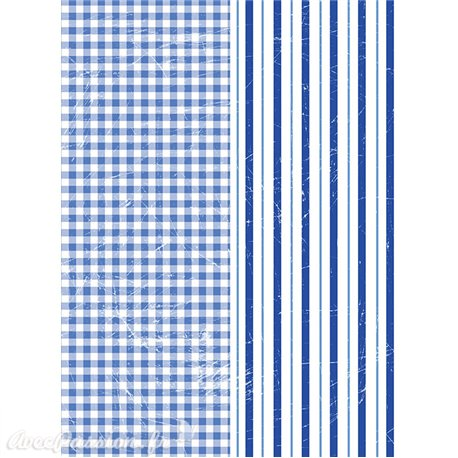 Transfert pelliculable Redesign Prima marketing décor Vichy & Stripes