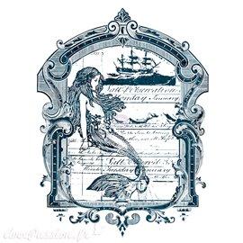 Transfert pelliculable Redesign Prima marketing décor mermaid bleu
