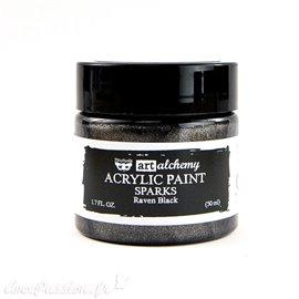 Peinture acrylique noir Prima 50 ml raven black