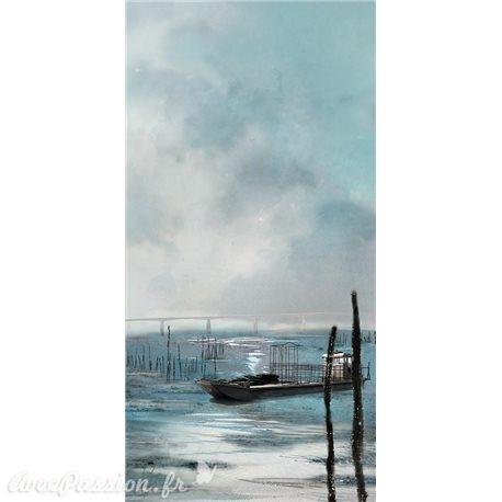 """Carte d'art Valie Le Boeuf La pêche """"Oléron"""""""