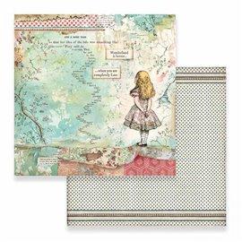 Papier scrapbooking réversible alice 30x30