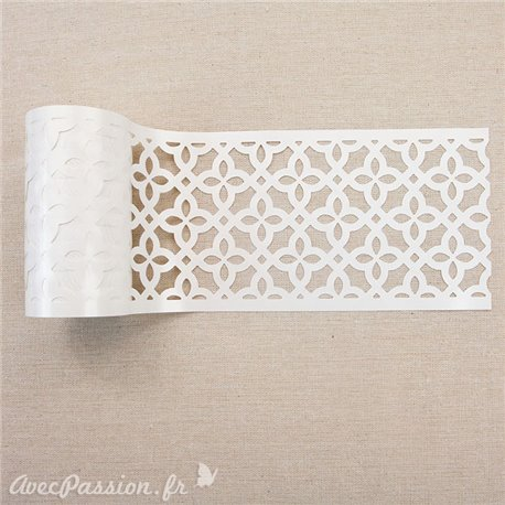 Pochoir en rouleau stencil roll redesign Prima Calypso Lattice
