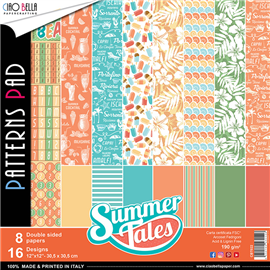 Papier scrapbooking assortiment Ciao Bella summer tales 8fe 30x30