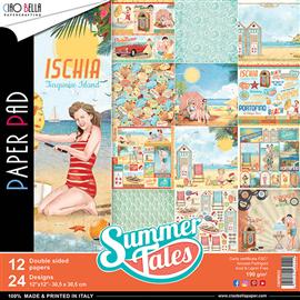 Papier scrapbooking assortiment Ciao Bella summer tales 12fe 30x30