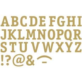 Sticker peel off adhésif or alphabet majuscules