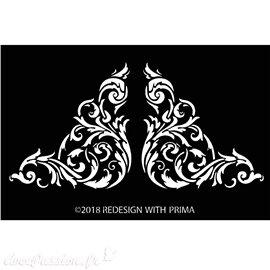 Pochoir décoratif 3D Redesign Stencils Anetta Corners 18x28cm