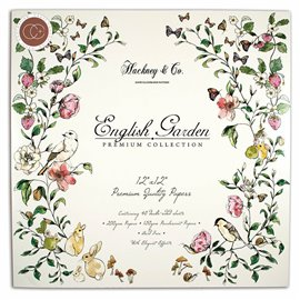 Papier scrapbooking assortiment english garden 40fe 30x30
