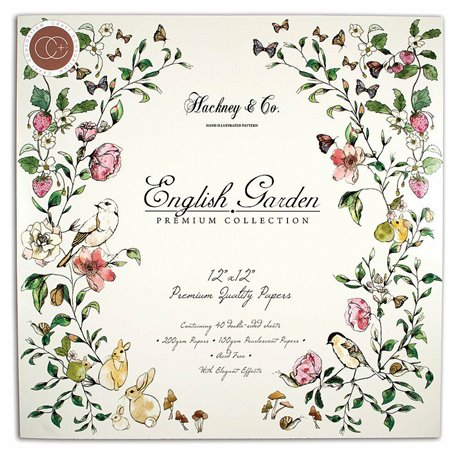 Papier scrapbooking assortiment english garden 40fe 30x30