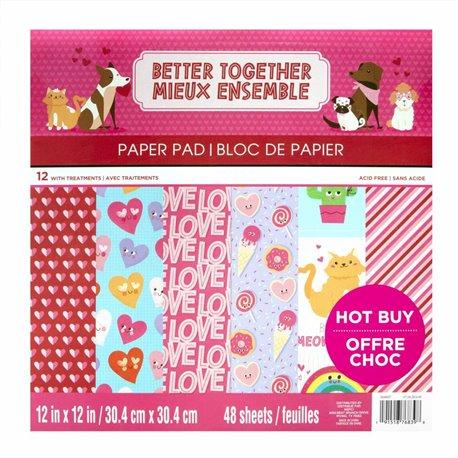 Papier scrapbooking assortiment mieux ensemble bloc 48fe 30x30