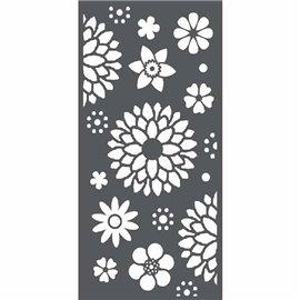 Pochoir décoratif 3D fleurs 12x25cm