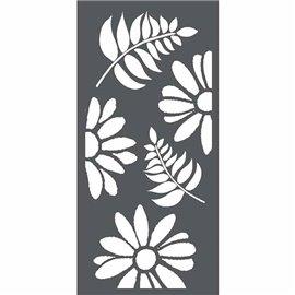 Pochoir décoratif 3D fleurs et feuilles 12x25cm