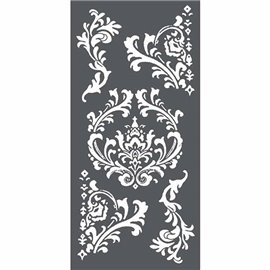 Pochoir décoratif 3D arabesques 12x25cm