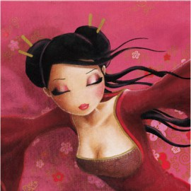 Carte postale Misstigri brise rose