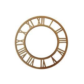 Horloge plaque ave numéro à décorer en médium mdf 21.5cm
