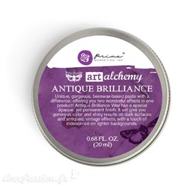Cire antique Art Alchemy brillance violet Amethyst Magic