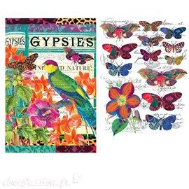 Transfert pelliculable Redesign Prima marketing décor Boho Bird Butterfly