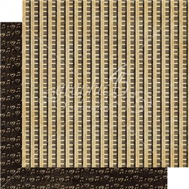 Papier scrapbooking réversible standing ovation graphic45 30x30