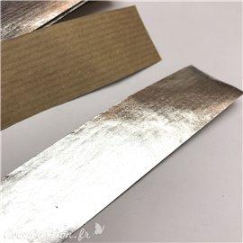 Bande argent pour filet de lavis - papier kraft recouvert de feuilles d'argent