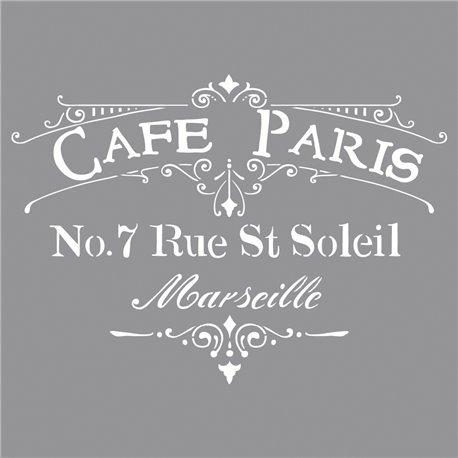 Pochoir décoratif café de paris 30.5x30.5cm
