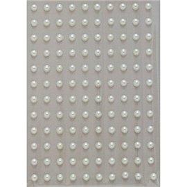 Stickers adhésifs demi perles crème 120p