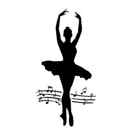 Pochoir décoratif danseuse ballerine 12x25cm