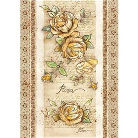 Papier de riz imprimé Stamperia A3 rose