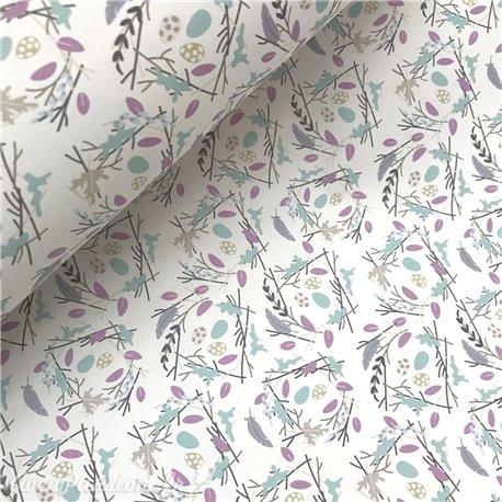 Papier italien motifs pâques nest