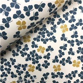 Papier tassotti à motifs trèfles bleu 3 et 4 feuilles
