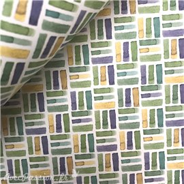 Papier tassotti à motifs vert bleu jaune