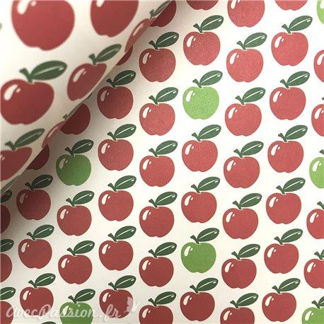 Papier tassotti à motifs pommes