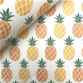 Papier tassotti à motifs ananas