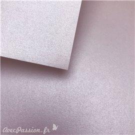 Papier fantaisie métallisé brillant mauve