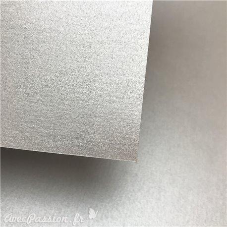 Papier fantaisie métallisé brillant argent