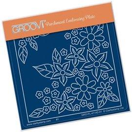 Groovi gabarit traçage parchemin semis de fleurs