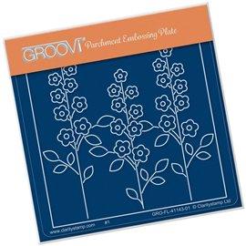 Groovi gabarit traçage parchemin fleurs de prairie