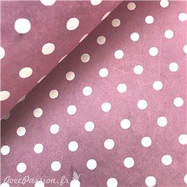 Papier népalais lokta bulles violet et blanc