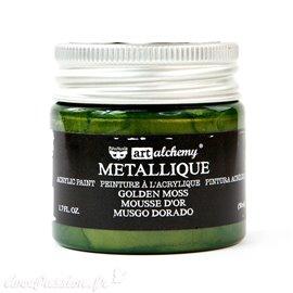 Peinture métallique vert art alchemy golden moss