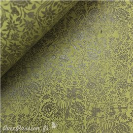 Papier fantaisie serenissime vert imprimé vert