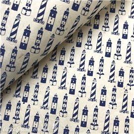 Papier népalais lokta motifs mer phare fond naturel