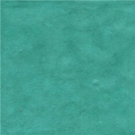 Papier népalais lokta lamaLi bleu turquoise
